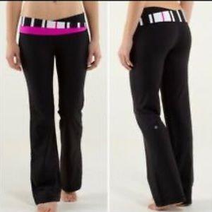 Lululemon Astro pant pink groovy waist flare